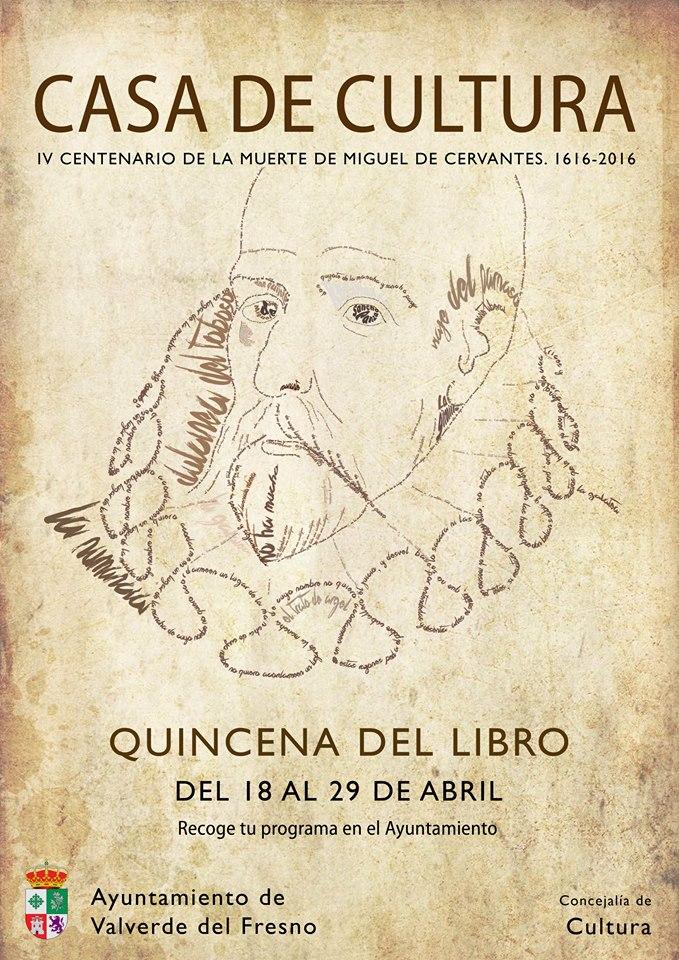 Cartel ganador de quincena del libro de Valverde del Fresno
