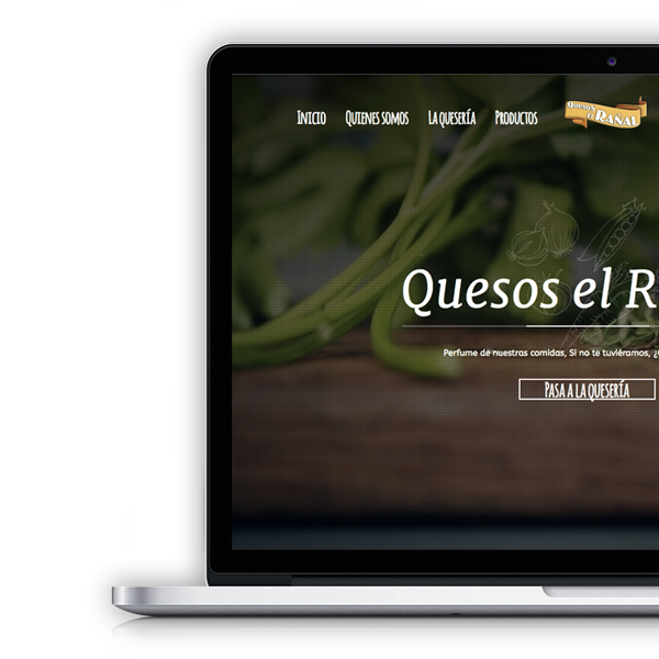 web demo de quesos el rañal