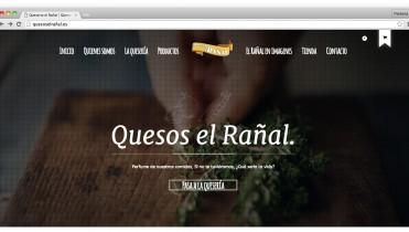 Página web de la queseria El Rañal