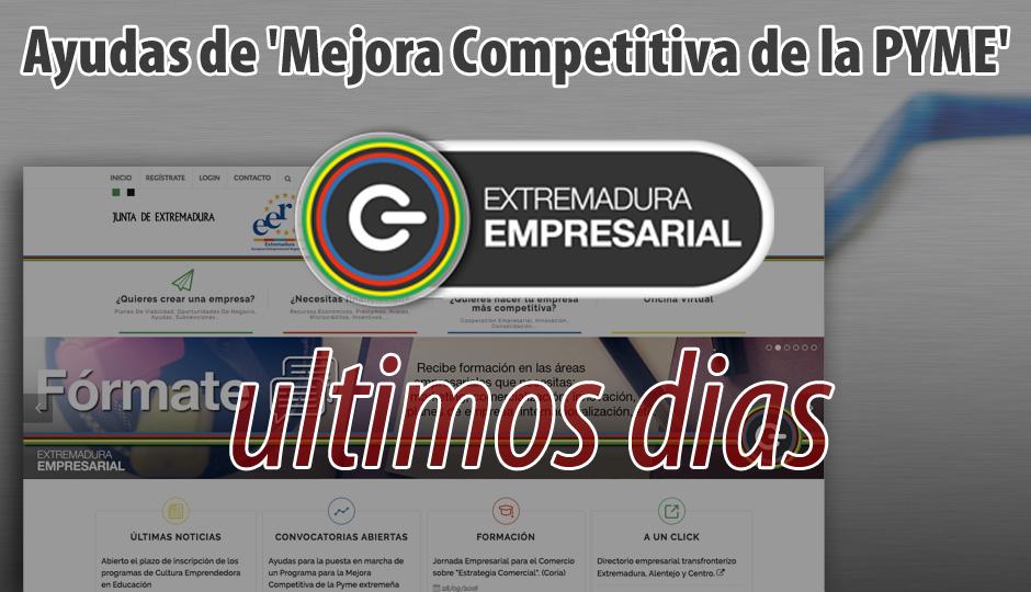 Ultimos dias para solicitar ayudas de 'Mejora Competitiva de la PYME'