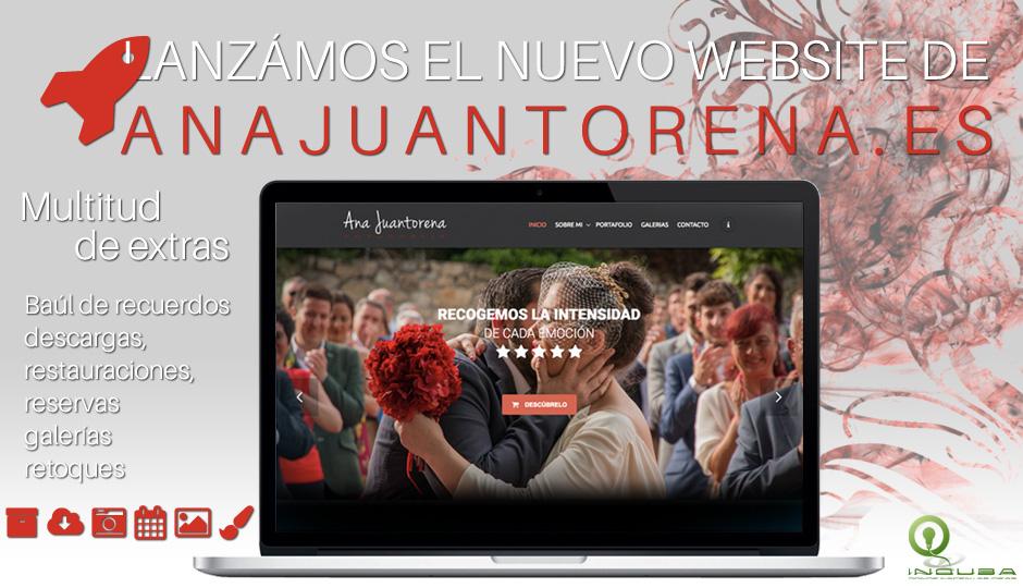 Ana Juantorena estrena sitio web de manos de Inquba.es