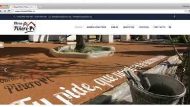 Página web de Obras Piñero
