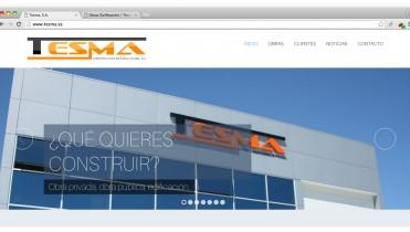 Página Web de la constructora Tesma