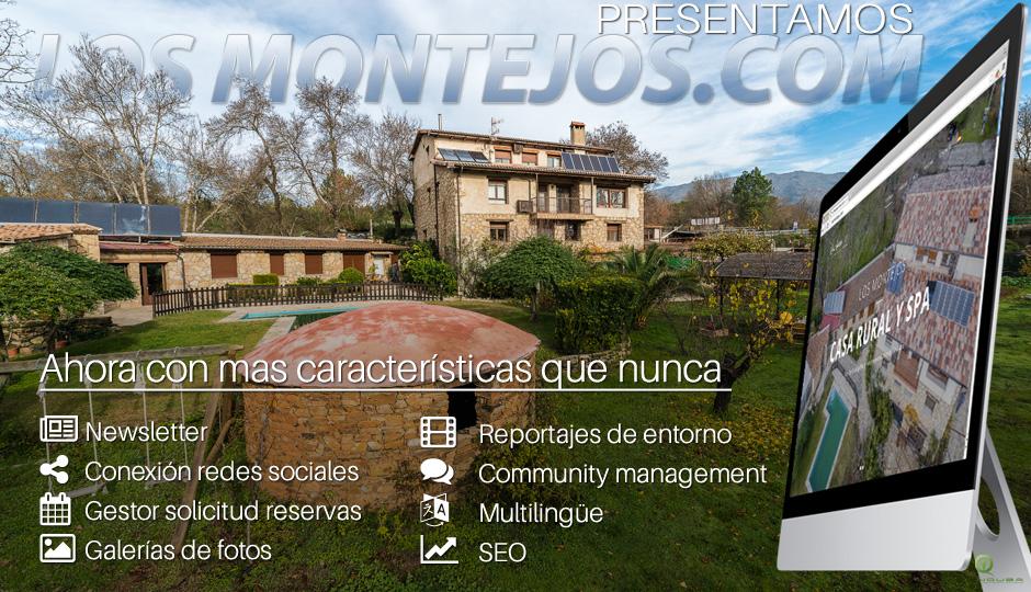 Los Montejos Casa Rural y Spa renueva pagina web