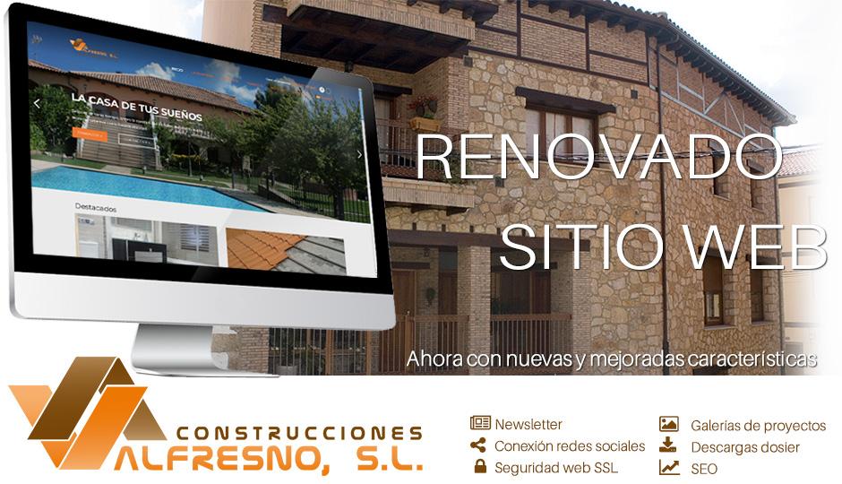 Construcciones Valfresno renueva su página web